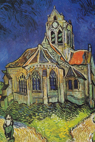 The Church of Auvers by Van Gogh Peaceful Wooden Puzzles