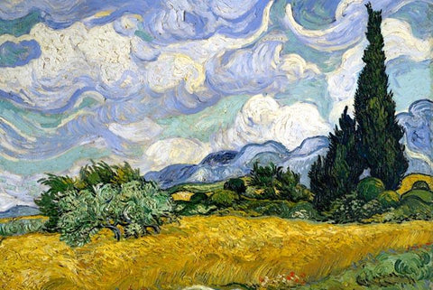 Wheat Field with Cypresses by Van Gogh - Peaceful Wooden Jigsaw Puzzles