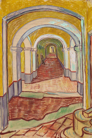 Corridor in the Asylum by Van Gogh - Peaceful Wooden Jigsaw Puzzles