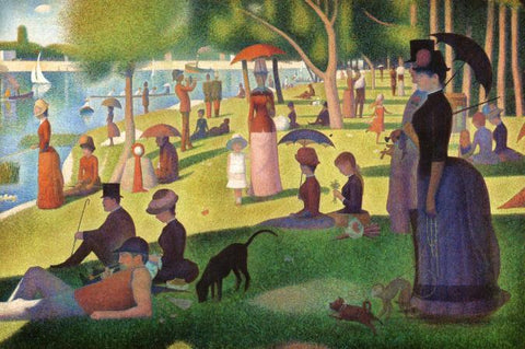 A Sunday on a La Grande Jatte Georges-Pierre Seurat - Peaceful Wooden Jigsaw Puzzles