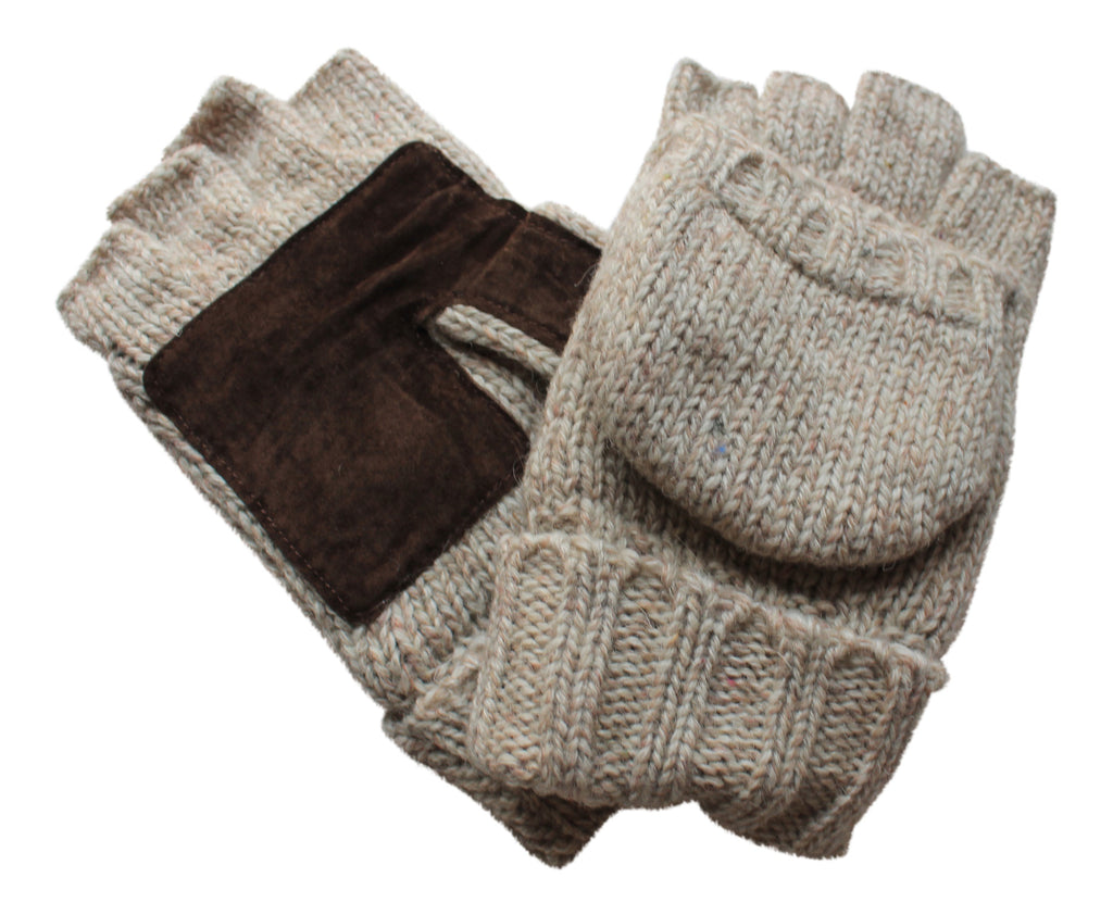 Warm Winter Mittens - Converts from fingerless gloves to mitten!