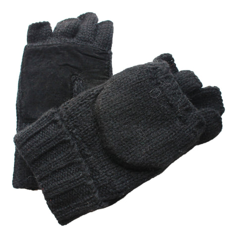 black wool mittens for sale