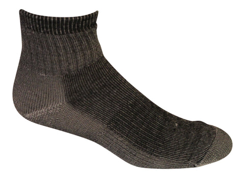 Merino Wool Mid Weight 1/4 Hiking Socks (Pack of 3) - Made in USA