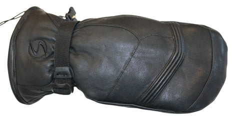 Men's Edge Goat Skin Leather Ski Mitten- Black