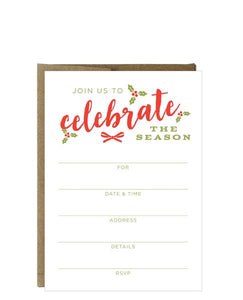 Holiday Party Fill-in Invitations