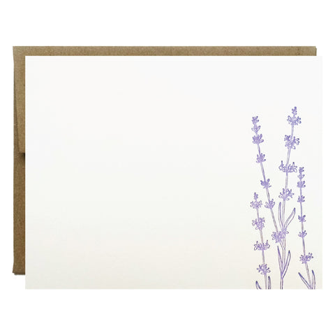 Lavender Letterpress Card - Idea Chíc