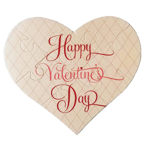 Valentine's Day Heart Puzzle Greeting Card - Idea Chíc
