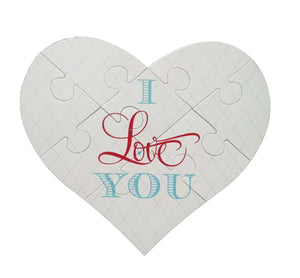 I Love You Heart Puzzle Greeting Card - Idea Chíc