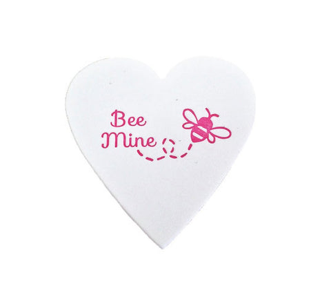 Bee Mine Mini Heart Note White Cotton with Glassine Sleeve - set of 4 - $4.50 each | case of 6
