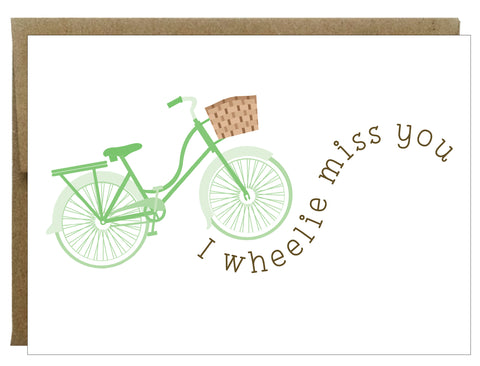 I Wheelie Miss You Greeting Card - $2.00 each | case of 6