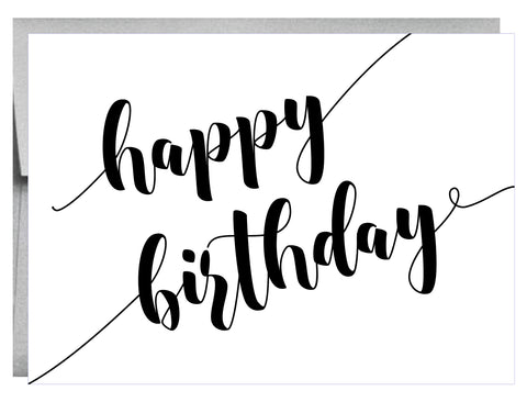 Bold Happy Birthday Greeting Card - $2.00 each | case of 6