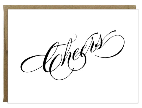 Cheers Letterpress Greeting Card - $2.50 each | case of 6
