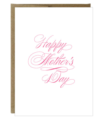 Classic Script Happy Mother's Day Card - $2.00 each | case of 6