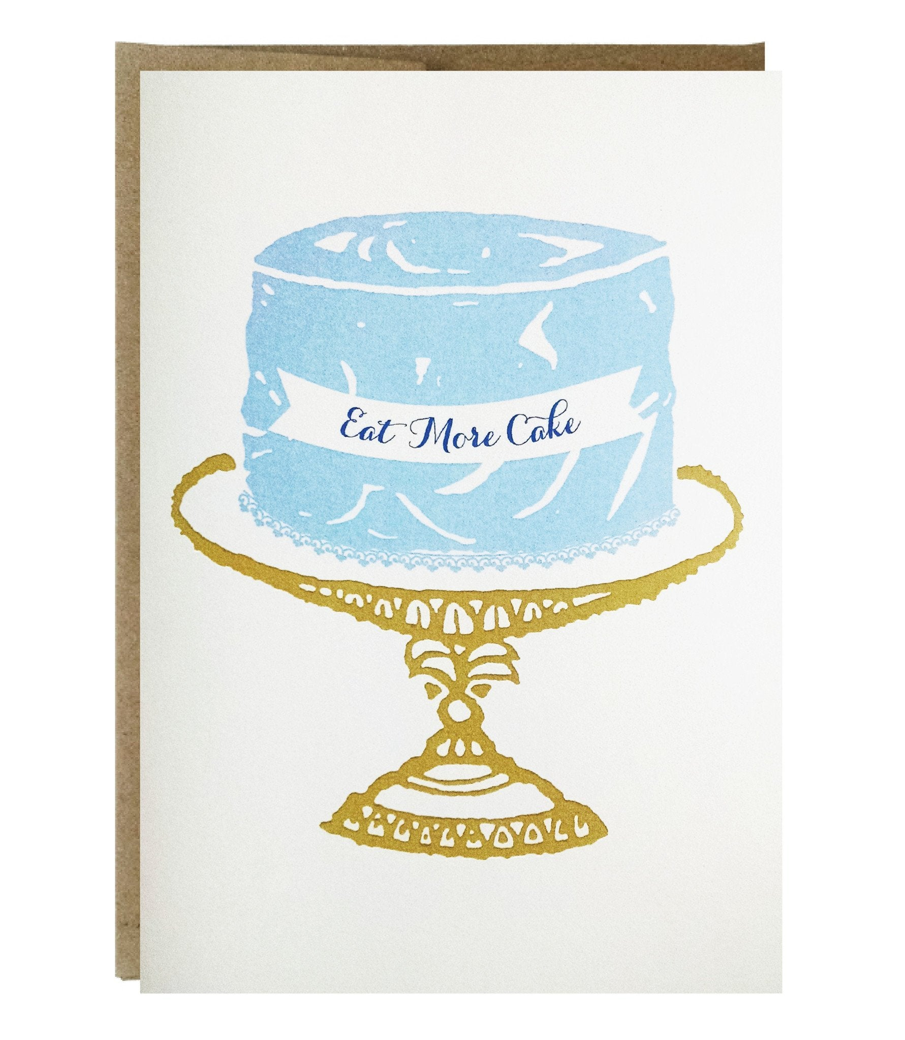 Eat More Cake Greeting Card 200 Each Case Of 6 Idea Chc
