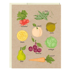 Fresh Produce Greeting Card - Idea Chíc