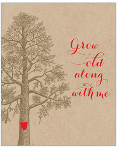 "Grow Old Along with Me Tree & Heart 8"" x 10"" Wall Print - Idea Chíc"
