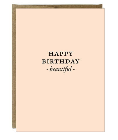 Happy Birthday Beautiful Greeting Card - $2.00 each | case of 6