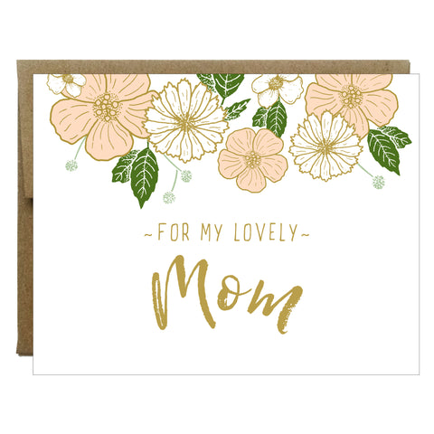 For My Lovely Mom Flower Greeting Card - $2.00 each | case of 6