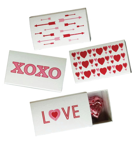 Valentine Treats of Gift Slider Boxes - Set of 4 - Idea Chíc