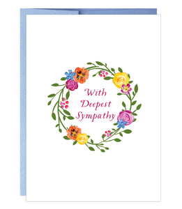 Sympathy Wreath Card - $2.00 each | case of 6