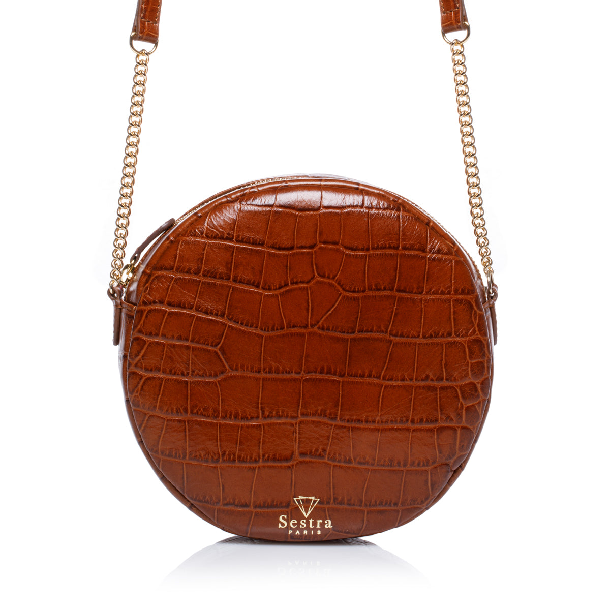 NICOLE Croco Marron (vs 175€)