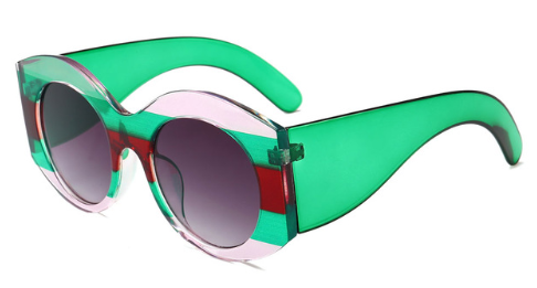 Round Color Block Sunglasses - BombShell Queens