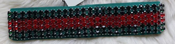 Red and Green G Bling Headband - BombShell Queens