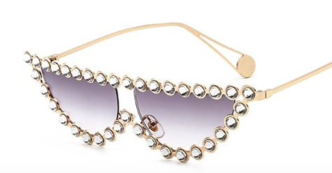 Crystal Cat Eye Sunglasses - BombShell Queens