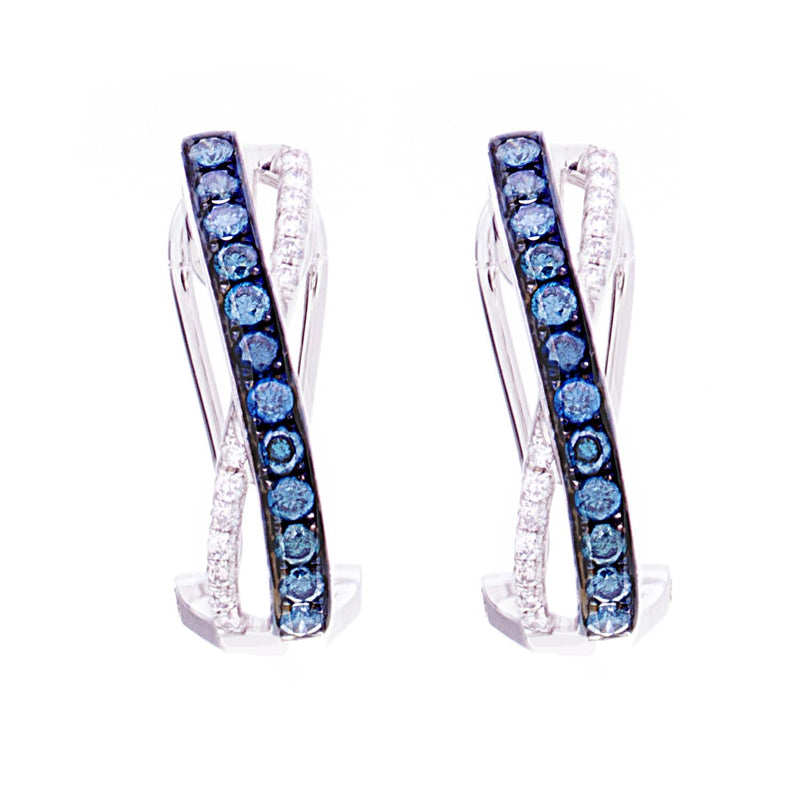 Blue Diamonds Earrings