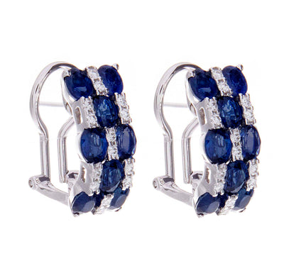 Sapphire and Diamond Earrings - Jewelry Store in St. Thomas | Beverly's Jewelry