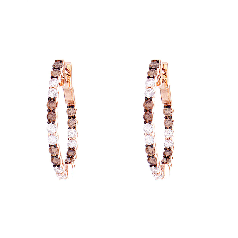 Choco Diamond Hoops