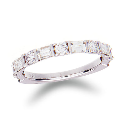 Baguette & Roun d Diamond Band - Jewelry Store in St. Thomas | Beverly's Jewelry
