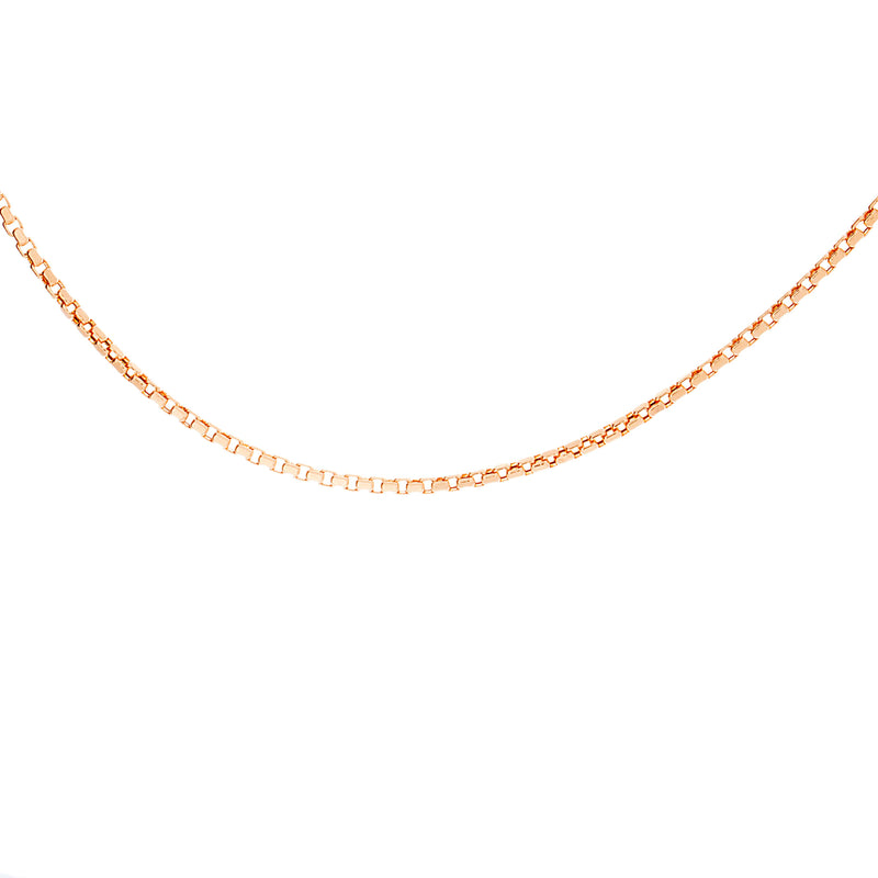 "1.5mm 18"" Venetian Box Chain"