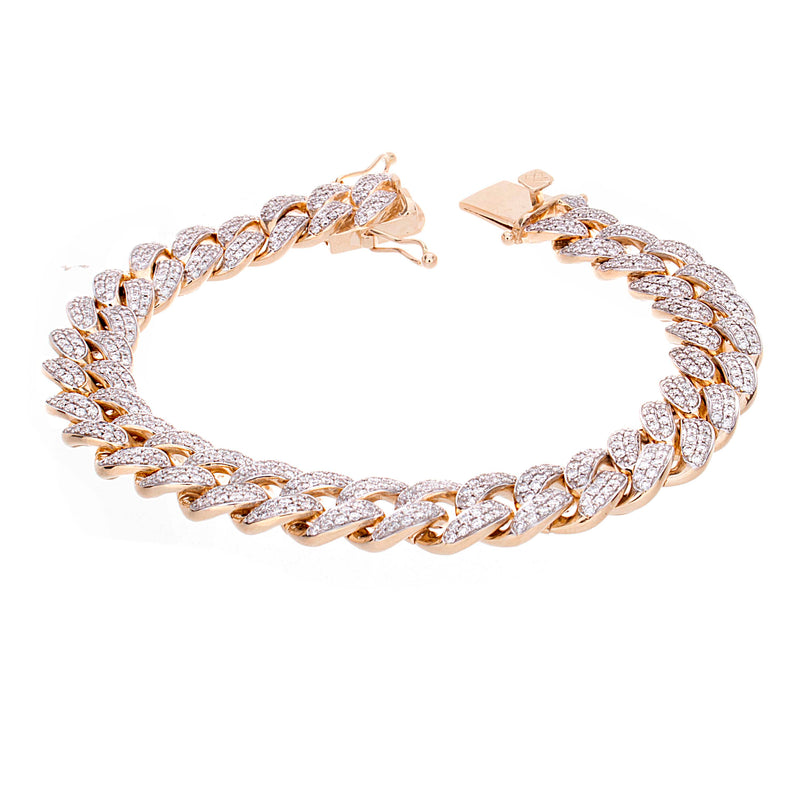 Miami Cuban Bracelet With Diamonds
