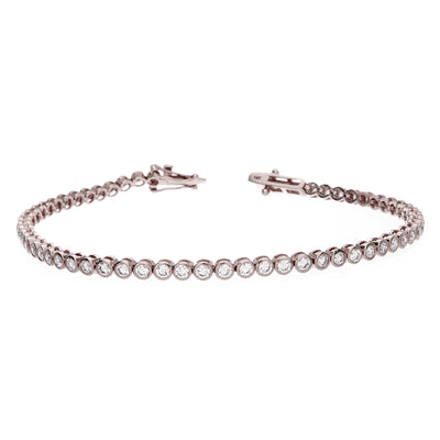 Bezel Set White Gold Diamond Bracelet - Jewelry Store in St. Thomas | Beverly's Jewelry