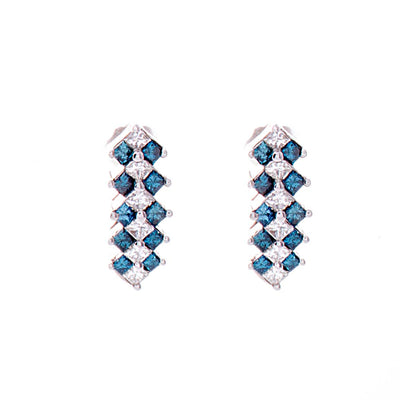 Blue Diamond Earrings - Jewelry Store in St. Thomas | Beverly's Jewelry