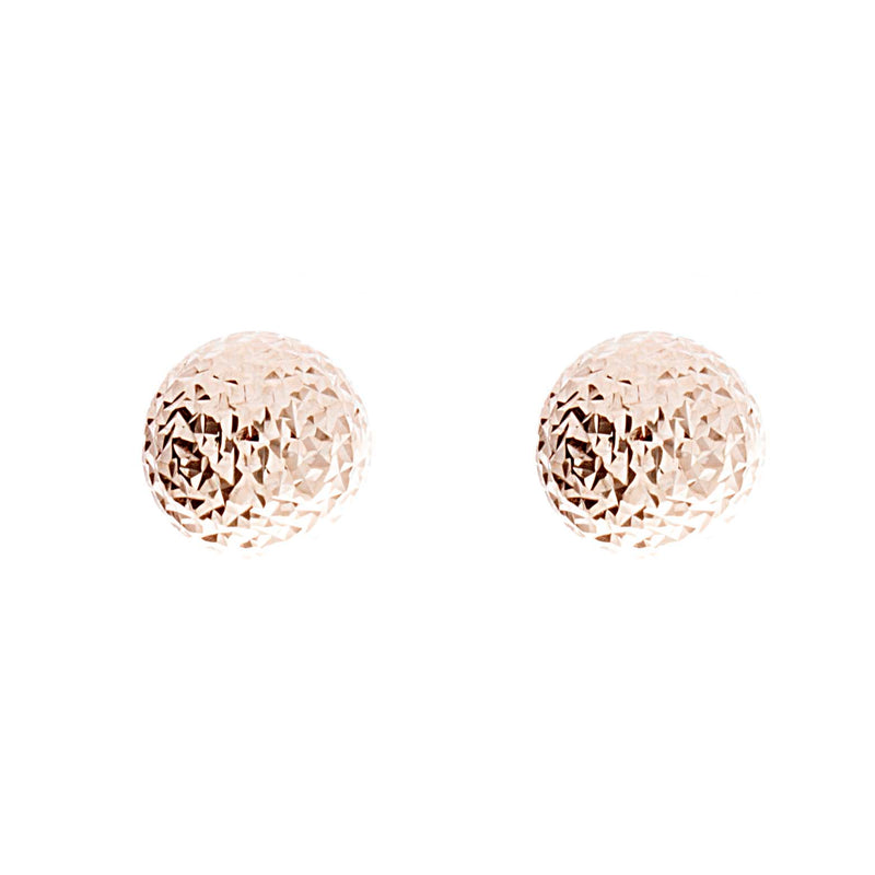 Diamond Cut Gold Studs