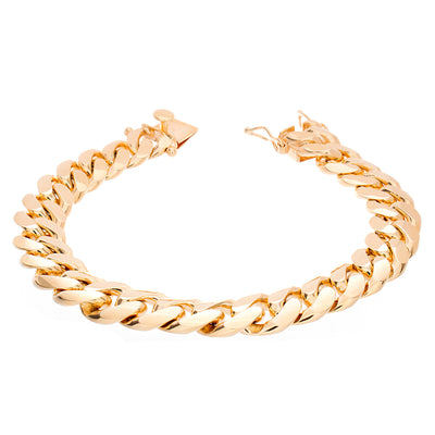 "Miami Cuban Bracelet 9"" 12mm - Jewelry Store in St. Thomas 