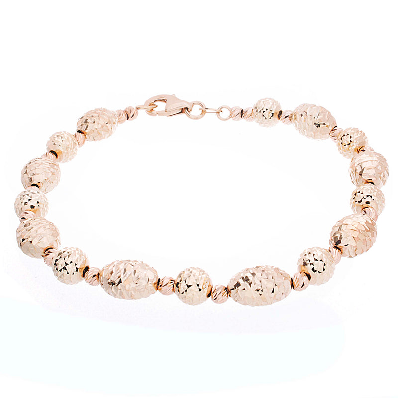 Ladies Fancy Gold Bracelet - Diamond Cut