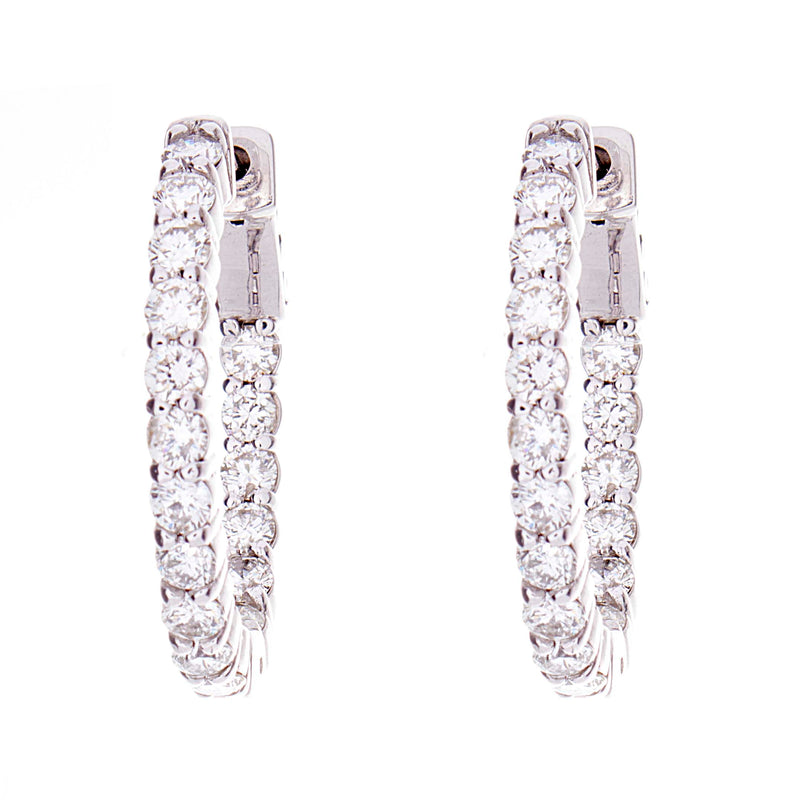 Dimaond Hoop Earrings