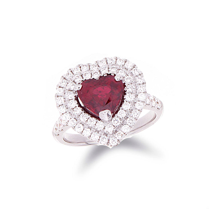Hear Shape Ruby Ring