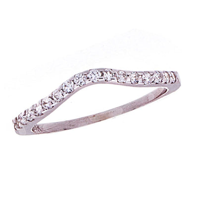 Curved Diamond Band - Jewelry Store in St. Thomas | Beverly's Jewelry