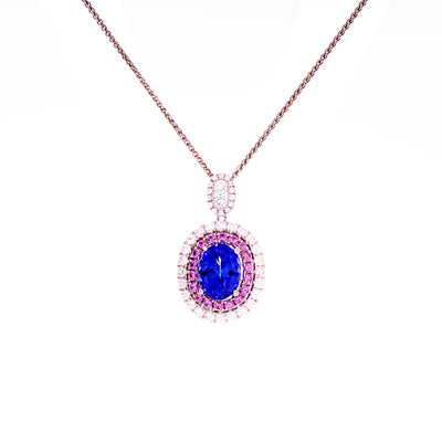 Tanzanite & Pink Sapphire Pendant - Jewelry Store in St. Thomas | Beverly's Jewelry