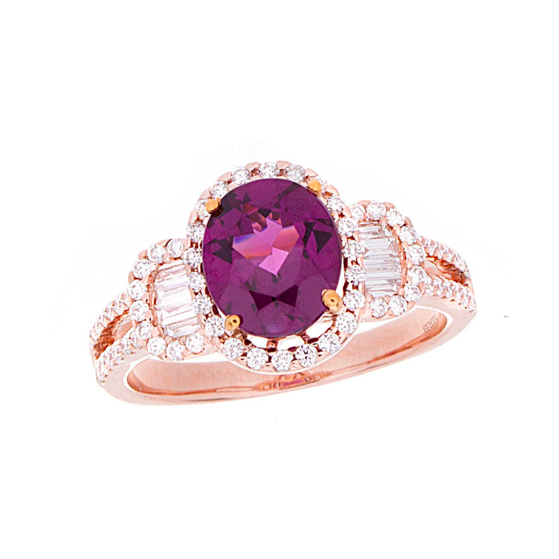 Purple Garnet Ring