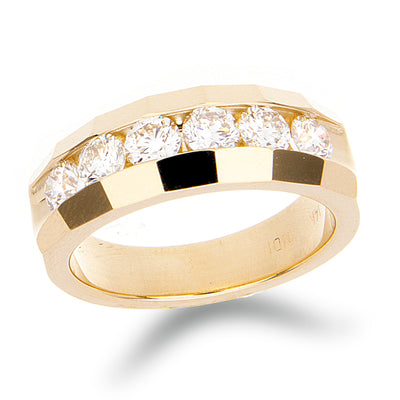 Mens six diamond channel set band - Jewelry Store in St. Thomas | Beverly's Jewelry