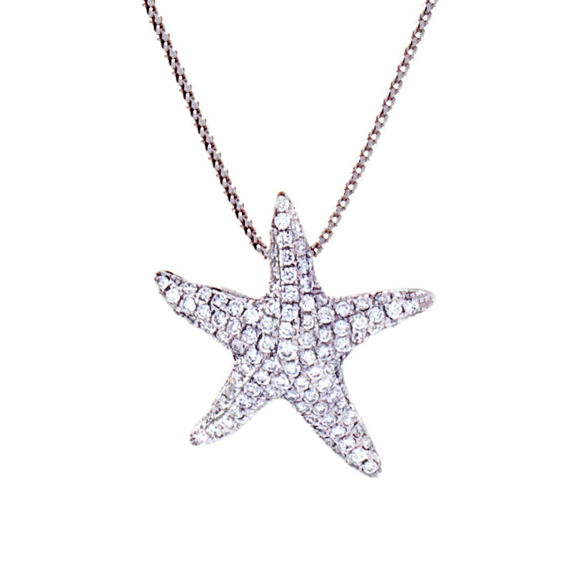 Diamond Pendant - Sealife Collection Starfish