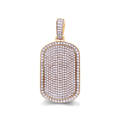 Diamond Dog Tag Pendant - Jewelry Store in St. Thomas | Beverly's Jewelry