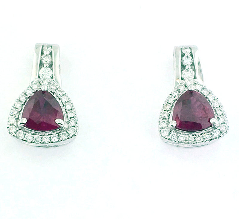 Ruby Earrings - KG300W R