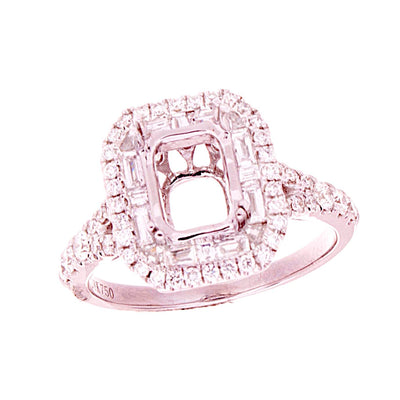 Diamond Halo Semi-Mount - Jewelry Store in St. Thomas | Beverly's Jewelry