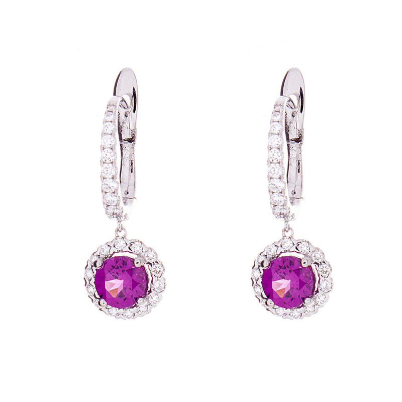 Purple Garnet Earrings